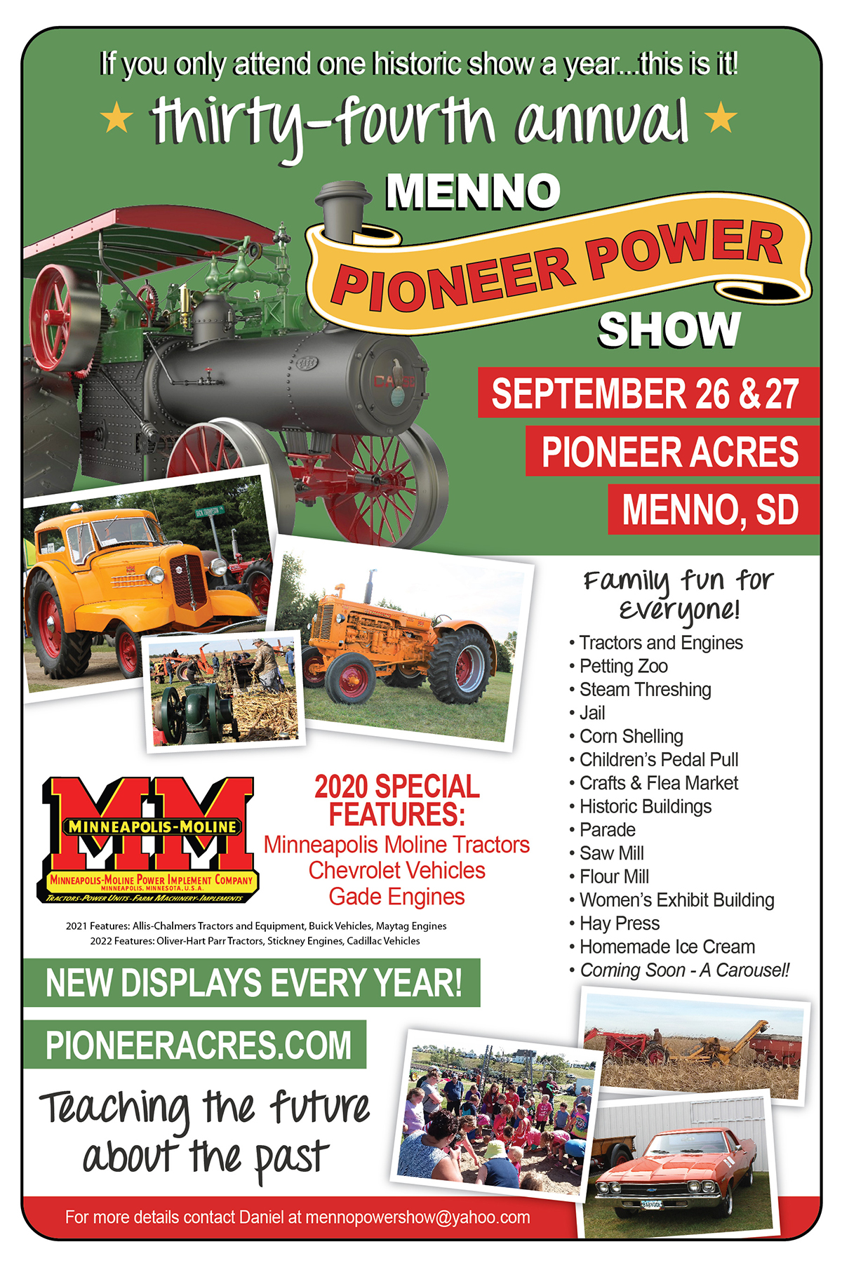 2020 Menno Pioneer Power Show Poster